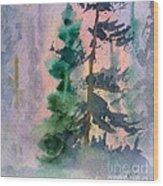 Foggy Patch Wood Print