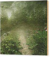 Foggy Road Art Wood Print by Boon Mee