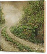Foggy Road Wood Print by Boon Mee