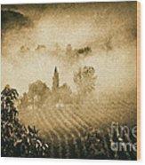 Foggy Tuscany Wood Print