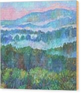 Foggy View From Mill Mountain Wood Print
