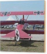 Fokker Dr.i Wood Print