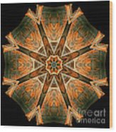 Folded 8-pointed Kaleidoscope Image Wood Print