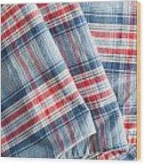 Folded Fabric Wood Print