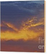 Folded Sunset Wood Print