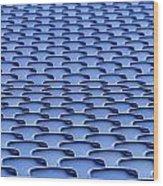 Folding Plastic Blue Seats Wood Print