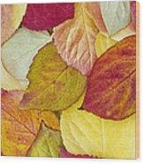 Foliage Quilt Wood Print