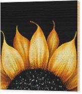 Folk Art Sunflower Wood Print