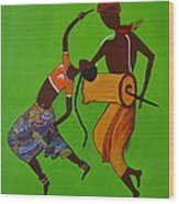 Folk Dance Wood Print