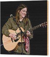 Folk Musician Denise Franke Wood Print