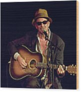 Folk Singer Greg Brown Wood Print