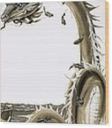 Folk Stories Of America Sea Serpent Wood Print