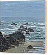 Follow The Ocean Waves Wood Print