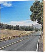 Follow The Road To Julian Wood Print