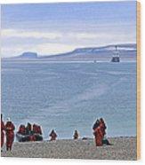 Following The Footsteps Of  Roald Amundsen.. Wood Print