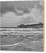 Folly Pier Wood Print
