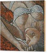 Fondo Rosso Wood Print