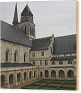Fontevraud Abbey Courtyard -  France Wood Print