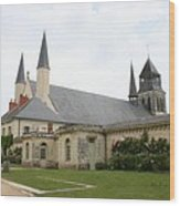 Fontevraud Abbey -  France Wood Print