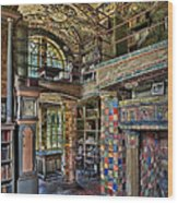 Fonthill Castle Library Room Wood Print