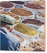 Food At Local Bazaar - Kashgar - China Wood Print