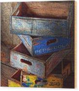 Food - Beverage - Pepsi-cola Boxes  Wood Print