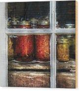 Food - Country Preserves  Wood Print by Mike Savad