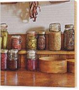 Food - I Love Preserving Things Wood Print by Mike Savad