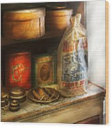 Food - Kitchen Ingredients Wood Print