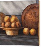 Food - Lemons - Winter Spice  Wood Print by Mike Savad