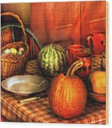 Food - Nature's Bounty Wood Print by Mike Savad