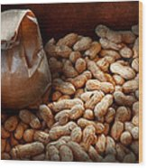 Food - Peanuts  Wood Print by Mike Savad
