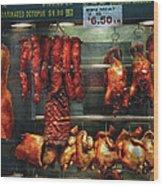 Food - Roast Meat For Sale Wood Print