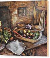 Food - The Start Of A Healthy Meal  Wood Print