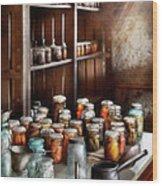 Food - The Winter Pantry  Wood Print by Mike Savad
