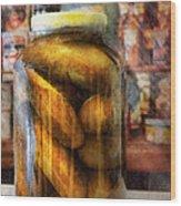 Food - Vegetable - A Jar Of Pickles Wood Print