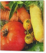 Food - Vegetable Medley Wood Print