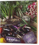 Food - Vegetables - Very Fresh Produce  Wood Print