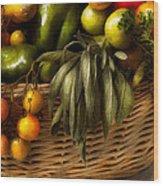 Food - Veggie - Sage Advice  Wood Print