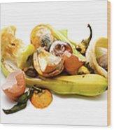 Food Waste Wood Print