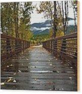 Foot Bridge In Grand Teton Wood Print