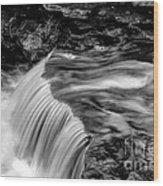Foot High Falls Wood Print