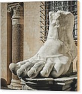 Foot Of Constantine Wood Print