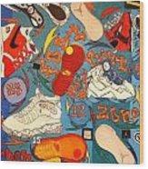 Foot Print Zone  Wood Print by Mj  Museum