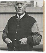 Football Coach Alonzo Stagg Wood Print