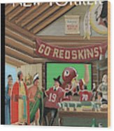 Football Fans Invite People Over For Thanksgiving Wood Print