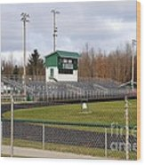 Football Field In Clare Michigan Wood Print