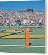 Football Game, University Of Michigan Wood Print