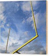 Football Goal Posts Wood Print