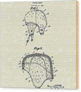 Football Helmet 1924 Patent Art Wood Print